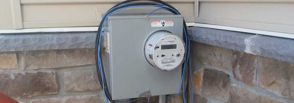 Upgraded Electrical Service Meter