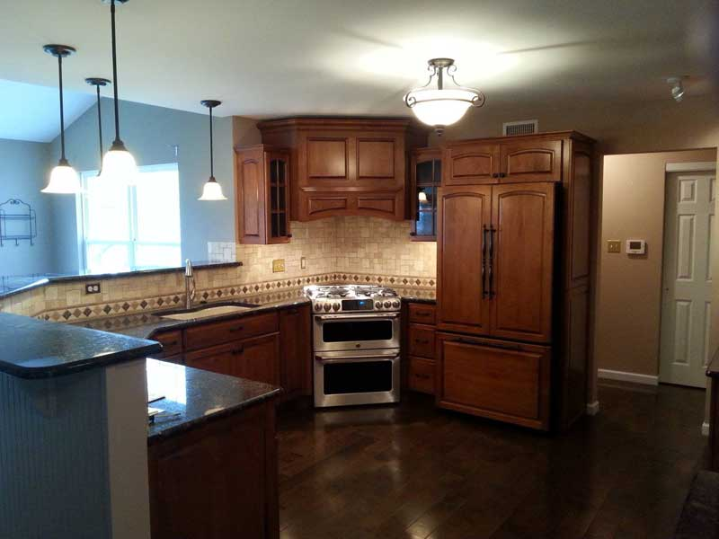 RKN Mechanical, LLC provides kitchen remodeling with ambiance under cabinet lighting and light fixtures.