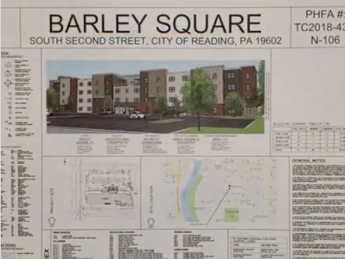 Barley Square construction plans